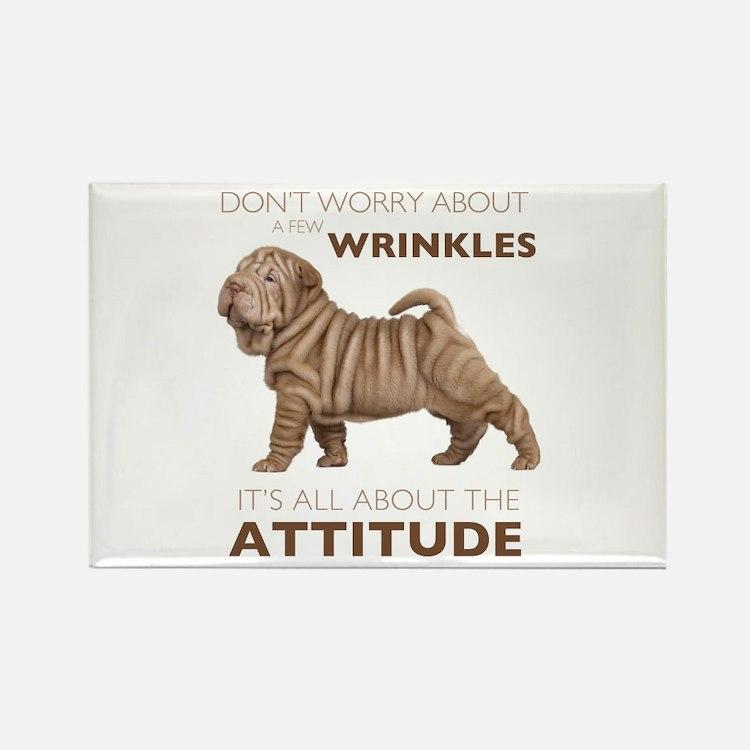 Shar Pei Attitude Rectangle Magnet (100 pack)