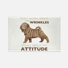 Shar Pei Attitude Rectangle Magnet (10 pack)