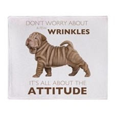 Shar Pei Attitude Throw Blanket