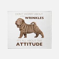 Shar Pei Attitude Throw Blanket
