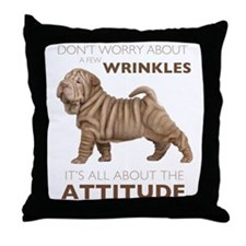 Shar Pei Attitude Throw Pillow