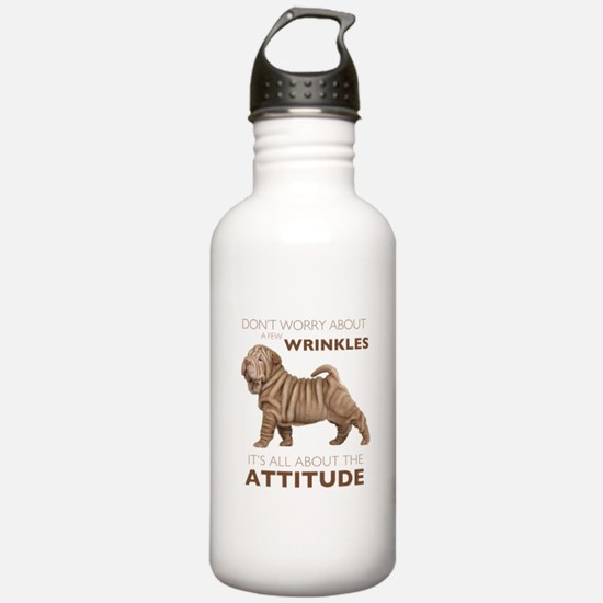 Shar Pei Attitude Water Bottle