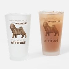 Shar Pei Attitude Drinking Glass