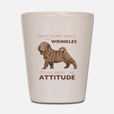 Shar Pei Attitude Shot Glass