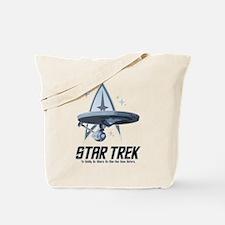 Star Trek Ship with Stars Tote Bag