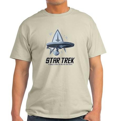 Star Trek Ship with Stars Light T-Shirt