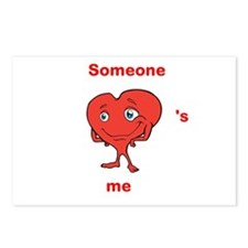 Cute Heart Shirt, Someone Heart's Me Postcards (Pa