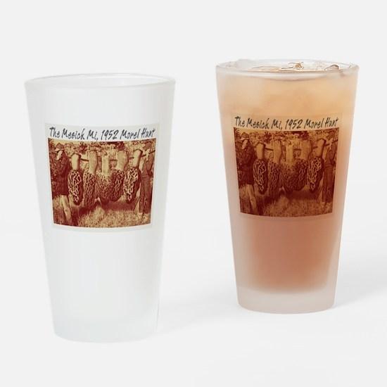 mesick morel humor Drinking Glass