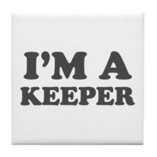 Valentine I'm a Keeper Tile Coaster