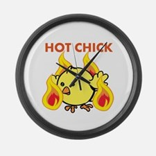 Hot Chick Large Wall Clock