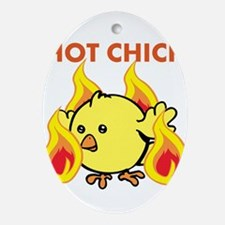 Hot Chick Ornament (Oval)