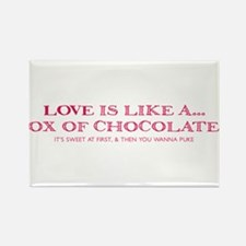 Love Is Like A Box Of Chocolates Rectangle Magnet