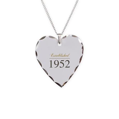 Established 1952 Necklace Heart Charm