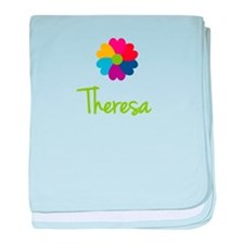 Theresa Valentine Flower baby blanket