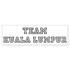 Team Kuala Lumpur Bumper Car Sticker