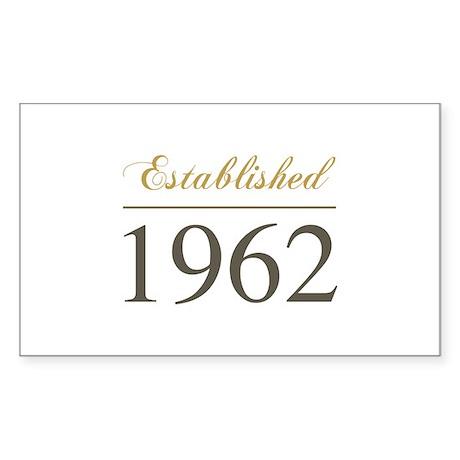 Established 1962 Sticker (Rectangle)