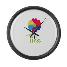 Tina Valentine Flower Large Wall Clock