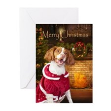 Holiday Brittany Xmas Cards (Pk of 10)
