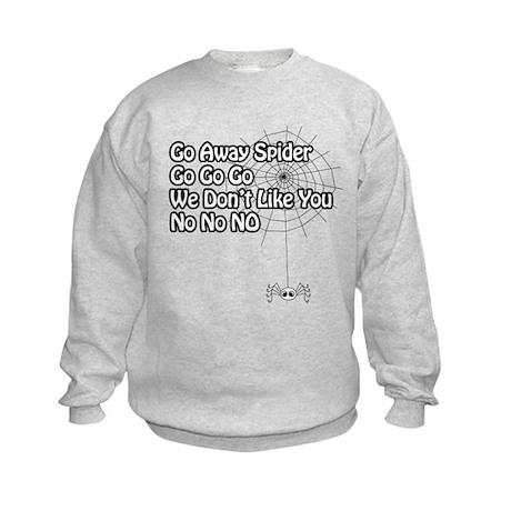 GoAwaySpiderGoGoGo Kids Sweatshirt
