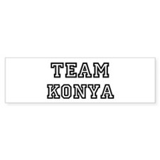 Team Konya Bumper Car Sticker