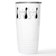 Valentine Kissing Cats Travel Mug