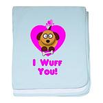 Valentine's Puppy Love - I Wu baby blanket