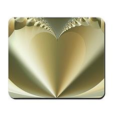 """Heart of Gold"" Fractal Art Mousepad"