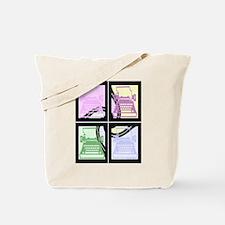 Abstract Pop Art Typewriter Tote Bag