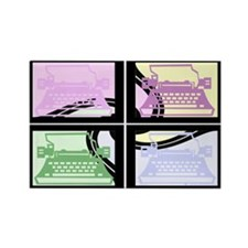 Abstract Pop Art Typewriter Rectangle Magnet