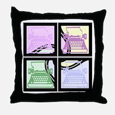Abstract Pop Art Typewriter Throw Pillow