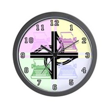 Abstract Pop Art Typewriter Wall Clock