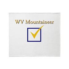 WV Mountaineer Throw Blanket