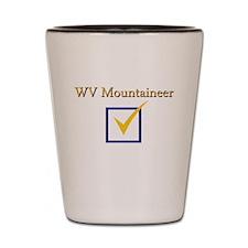 WV Mountaineer Shot Glass