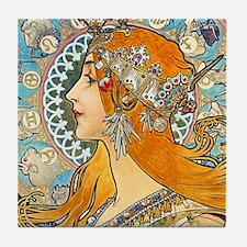 Mucha - La Plume Tile Coaster
