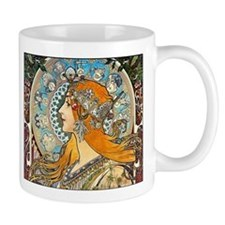 Mucha - La Plume Small Mugs