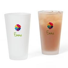 Emma Valentine Flower Drinking Glass