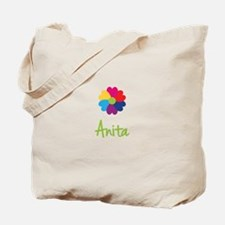 Anita Valentine Flower Tote Bag