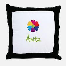 Anita Valentine Flower Throw Pillow