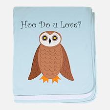 Hoo Do U Love? baby blanket
