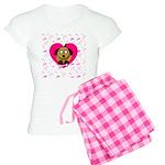 Valentines Puppy Love Women's Light Pajamas