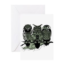 Three Owls Greeting Card