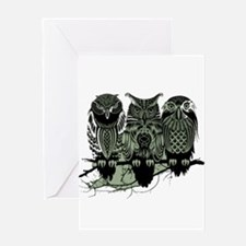 Three Owls Greeting Card
