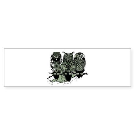 Three Owls Sticker (Bumper)