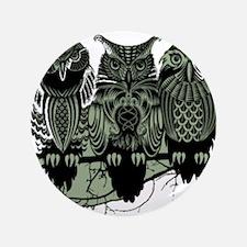 "Three Owls 3.5"" Button"