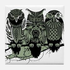 Three Owls Tile Coaster