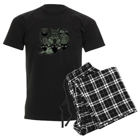 Three Owls Men's Dark Pajamas