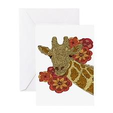 Jewel Giraffe Greeting Card