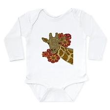 Jewel Giraffe Long Sleeve Infant Bodysuit