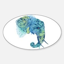 Blue Elephant Decal