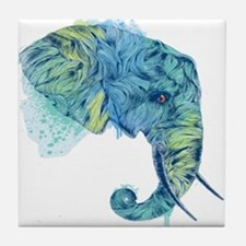 Blue Elephant Tile Coaster